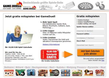 Gameduell Geldspiele spielen
