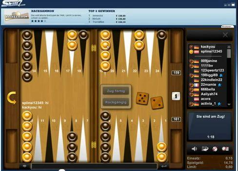 online backgammon gegeneinander spielen