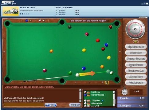 billard online spielen gegen andere