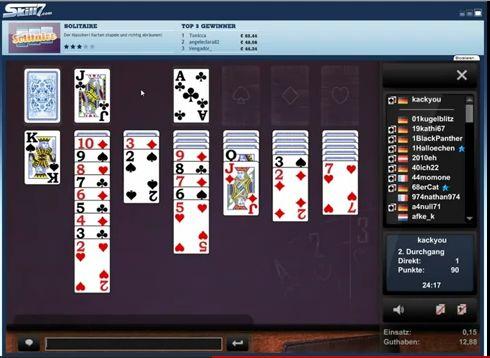 Screenshot zu Solitär online spielen